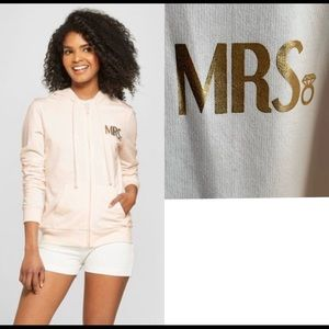 Mrs. Gold Foil French Terry Hoodie Zip-Up XL